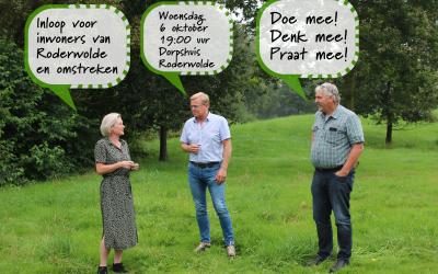 De fractie van Gemeentebelangen vergadert woensdag 6 oktober in het dorpshuis in Roderwolde